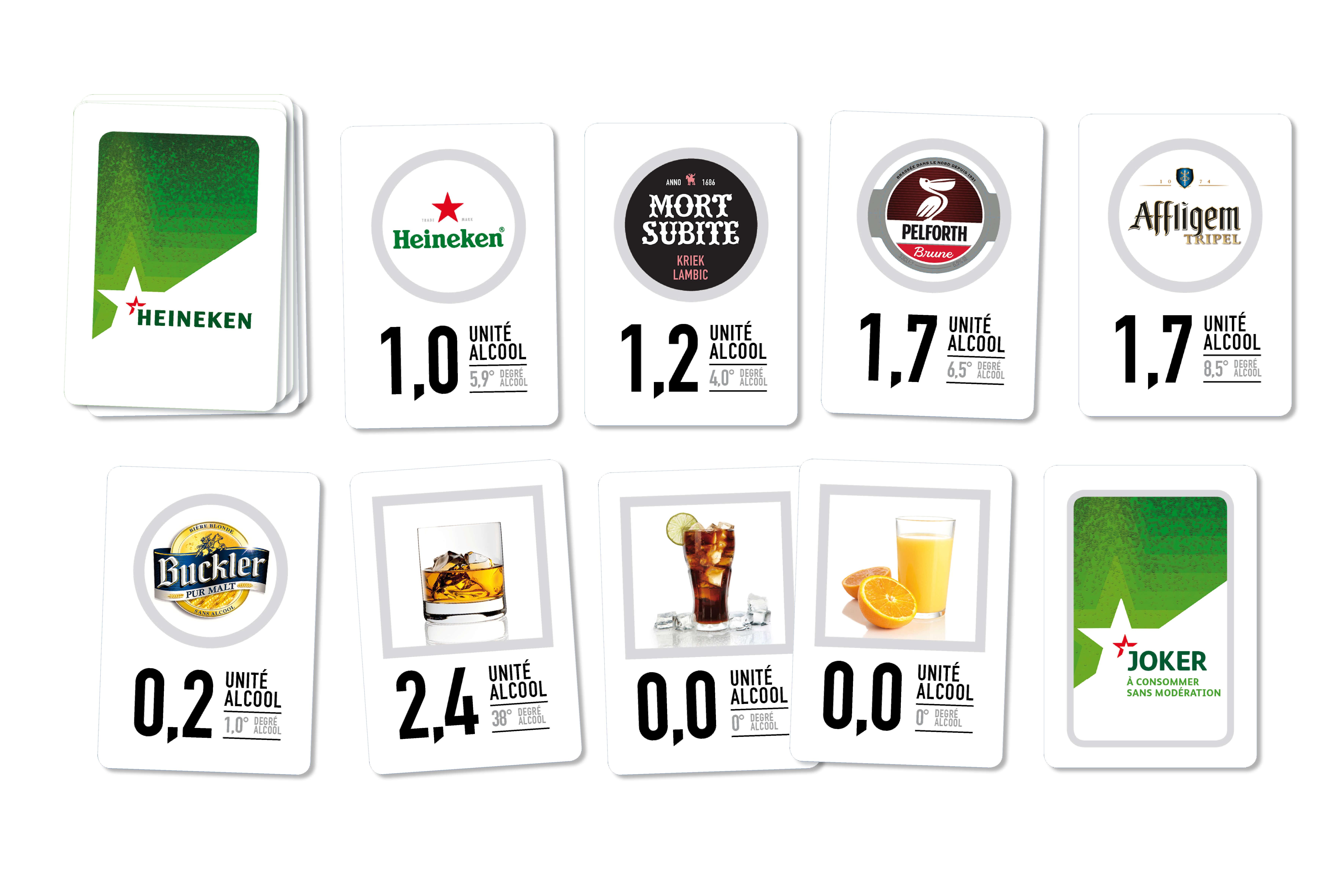 L'agence MARDI crée un jeu de carte black jack pour Heineken