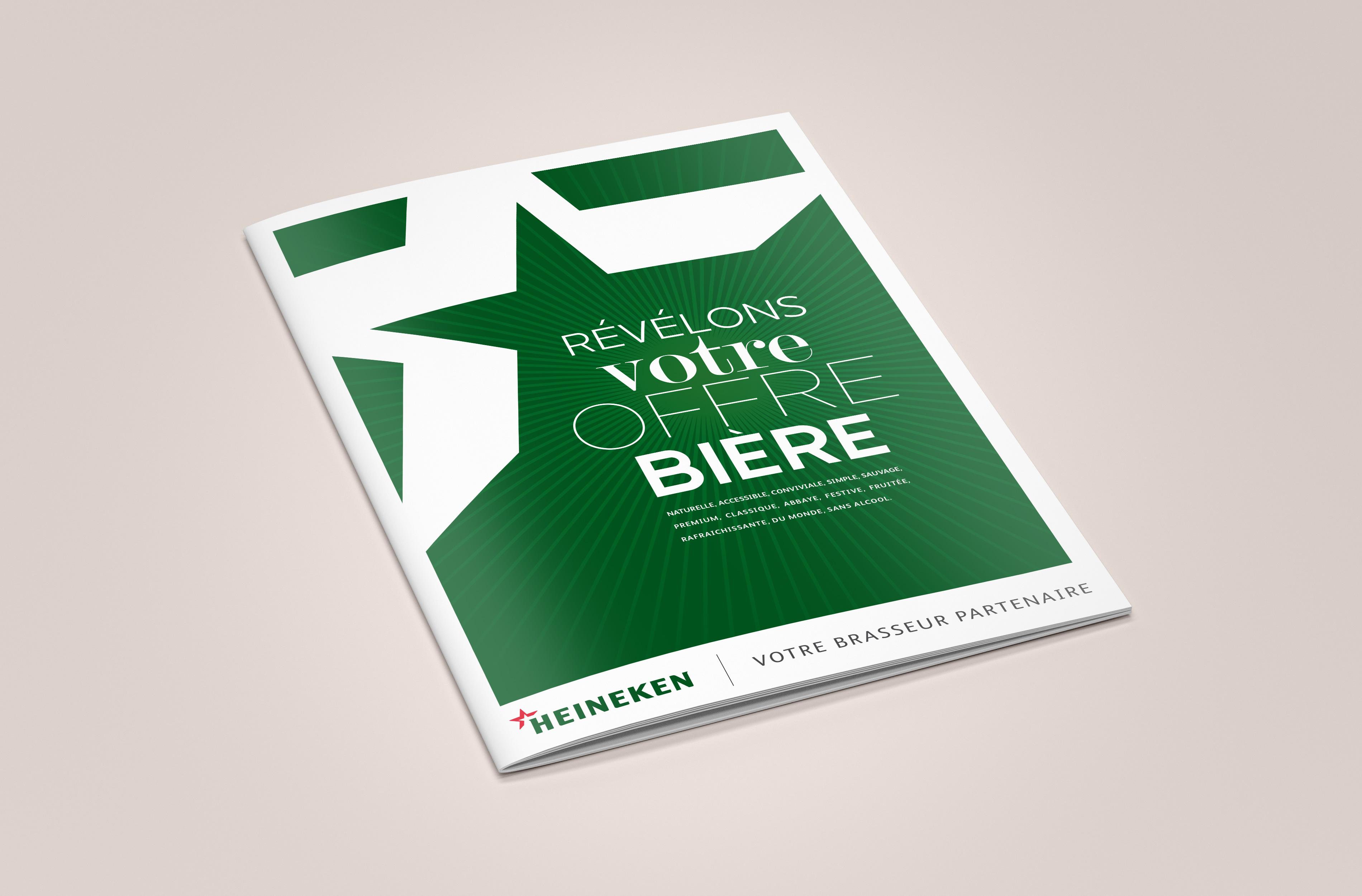 Agence MARDI création des documents commerciaux de l'ensemble de la force de vente d'Heineken