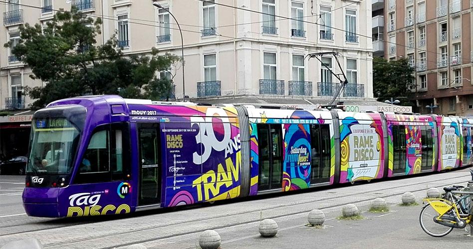 les 30 ans du tram de Grenoble habillage tram