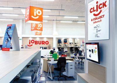 le click and collect fonctionne dans les magasins de bureautique ioburo